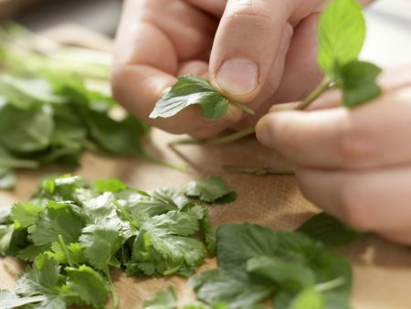 Vietnamesische Suppe: Zubereitungsschritt 10