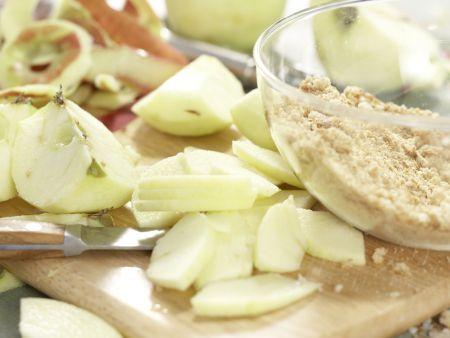 Vollkorn-Apfelstrudel: Zubereitungsschritt 4