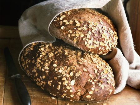 Vollkorn-Haferflocken-Brot