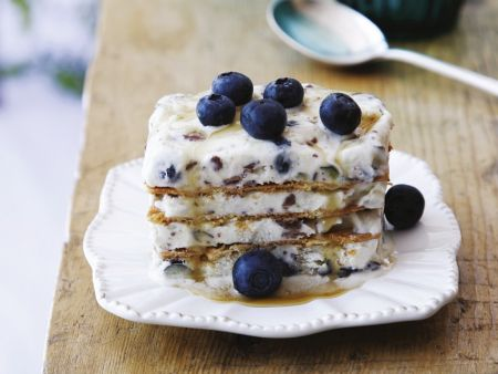Waffel-Eis-Dessert