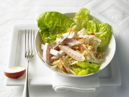 Waldorfsalat mit Hähnchenfilet