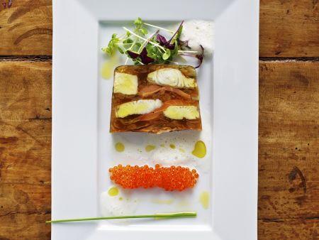 Wallerterrine mit Kaviar von der Forelle
