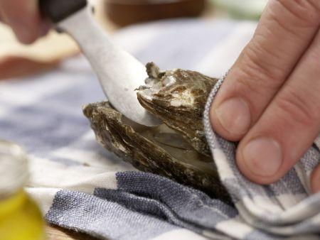 Warme Austern: Zubereitungsschritt 3
