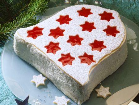 Weihnachtliche Torte in Glockenform