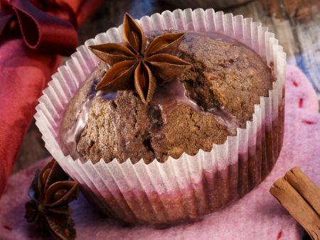 Weihnachts-Muffins mit Sternanis