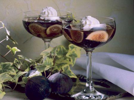 Weingelee mit Feigen