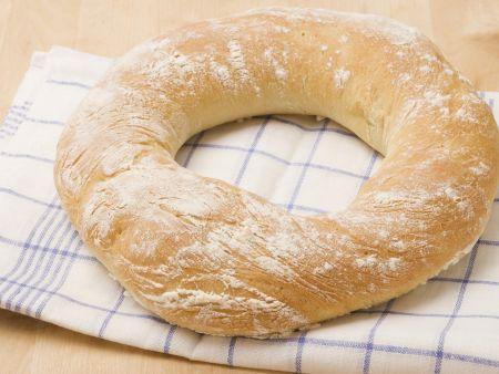 Weißbrot auf italienische Art (Ciabatta)