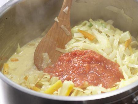 Weißkohl-Kokos-Curry: Zubereitungsschritt 10
