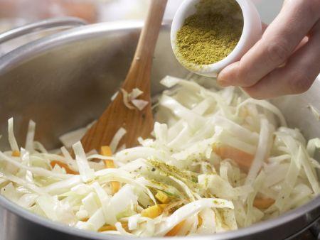 Weißkohl-Kokos-Curry: Zubereitungsschritt 8