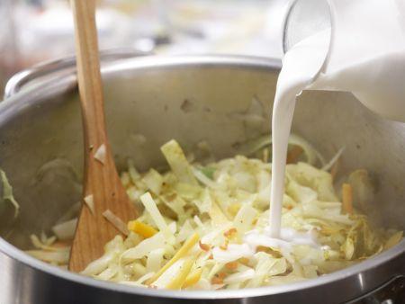 Weißkohl-Kokos-Curry: Zubereitungsschritt 9