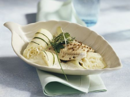Rezept: Welsfilet mit Sauerkrautwickeln