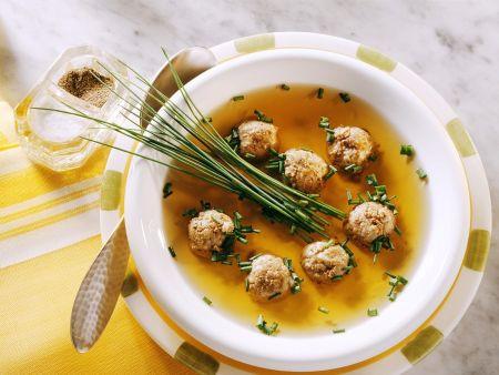 Wild-Leberklößchensuppe