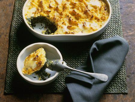 Wirsingauflauf mit Kartoffelhaube