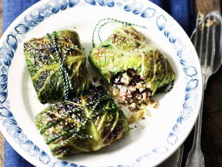 Wirsingwickel mit Quinoafüllung