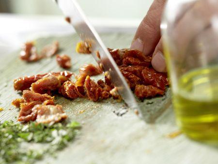 Würzige Mozzarella-Nudeln: Zubereitungsschritt 5