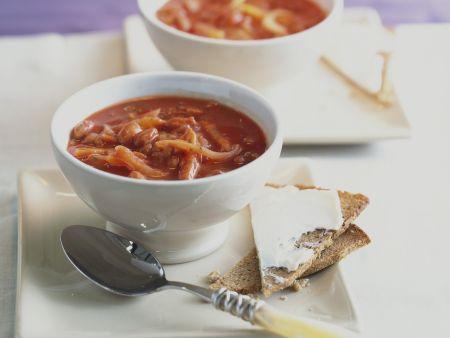 Würzige Tomatensuppe
