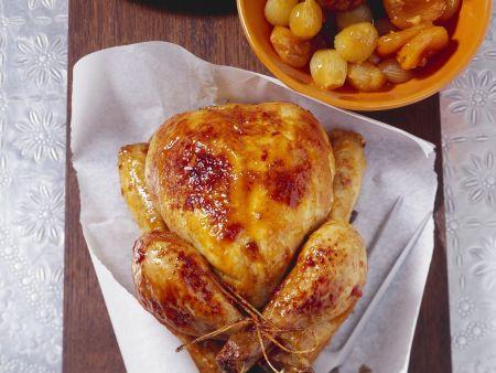 Würziges Huhn mit Trockenobst