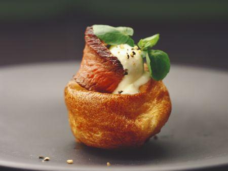 Yorkshire-Pudding mit Roastbeef