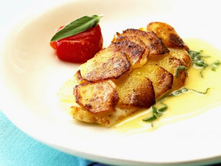Zander mit Kartoffelhaube und Limettensoße