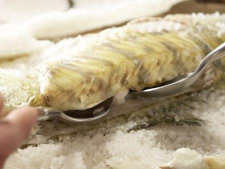 Zander in der Salzkruste: Zubereitungsschritt 10