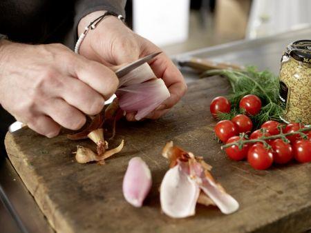 Zander-Tomaten-Pfanne: Zubereitungsschritt 1