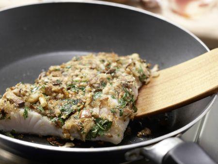 Zanderfilet mit Pilzkruste: Zubereitungsschritt 11