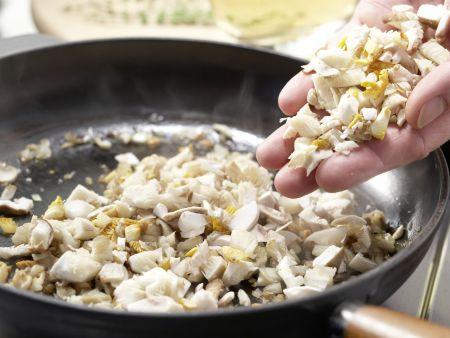 Zanderfilet mit Pilzkruste: Zubereitungsschritt 2