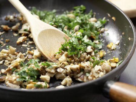Zanderfilet mit Pilzkruste: Zubereitungsschritt 3