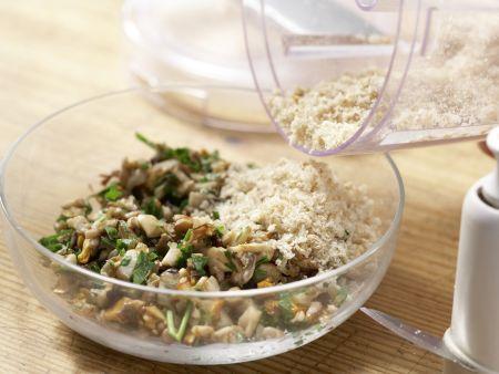 Zanderfilet mit Pilzkruste: Zubereitungsschritt 9