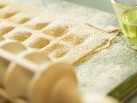 Ziegenfrischkäse-Ravioli: Zubereitungsschritt 7