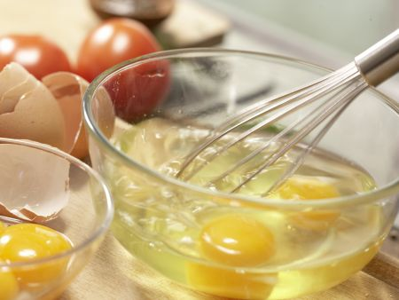 Ziegenkäse-Omelett: Zubereitungsschritt 1