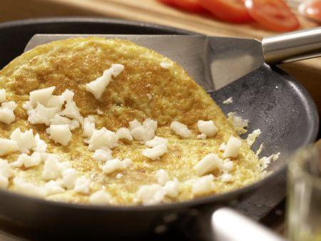 Ziegenkäse-Omelett: Zubereitungsschritt 7