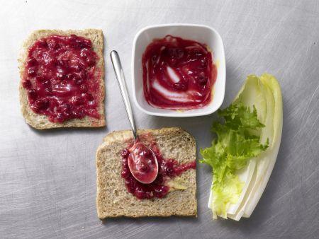Ziegenkäse-Sandwich: Zubereitungsschritt 2