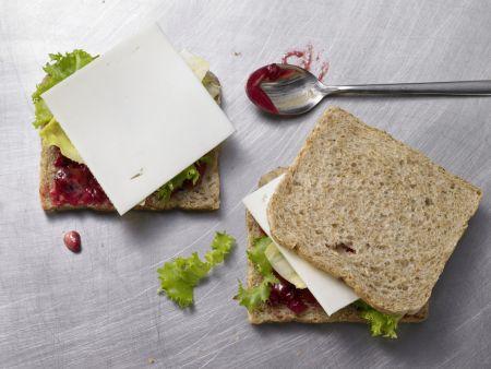 Ziegenkäse-Sandwich: Zubereitungsschritt 3