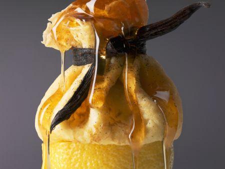 Zitronen-Crêpe-Säckchen