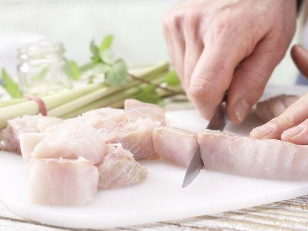 Zitronengras-Fischspieße: Zubereitungsschritt 1
