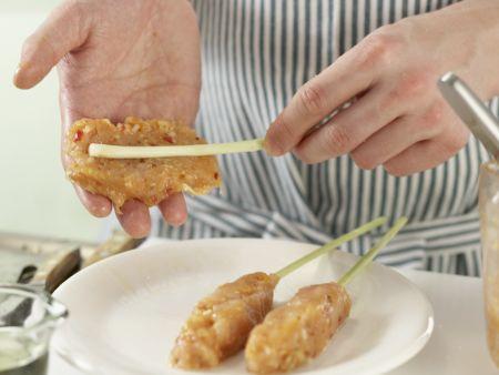 Zitronengras-Hähnchen-Spieße: Zubereitungsschritt 7