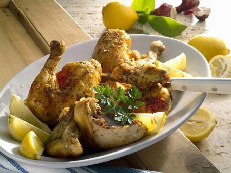 Rezept: Zitronenhähnchen auf griechische Art