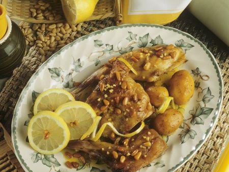 Zitronenkaninchen mit Kartoffeln