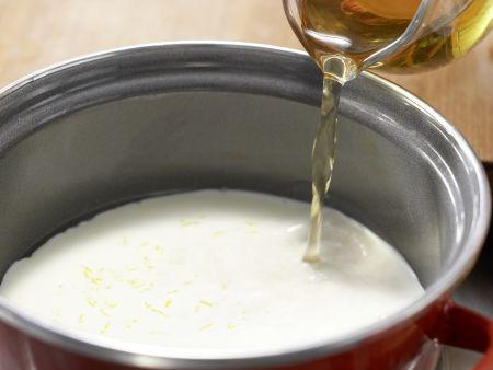 Zitronensauce mit Zucchiniblüten: Zubereitungsschritt 3