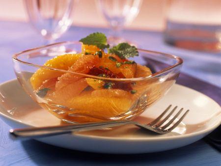 Zitrusfruchtsalat
