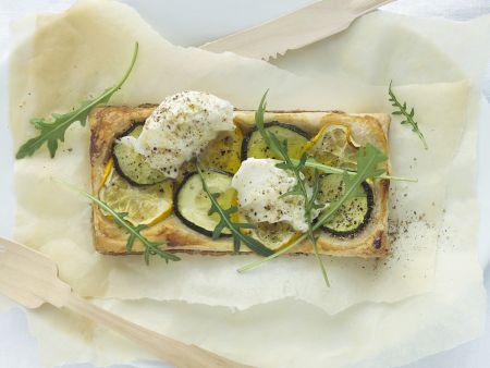 Zucchini-Mozzarella-Tarte