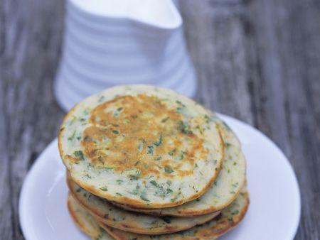 Zucchini Pfannkuchen auf russische Art