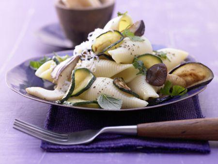 Zucchini-Pilz-Pasta