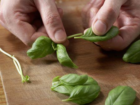 Zucchini mit Polenta: Zubereitungsschritt 1