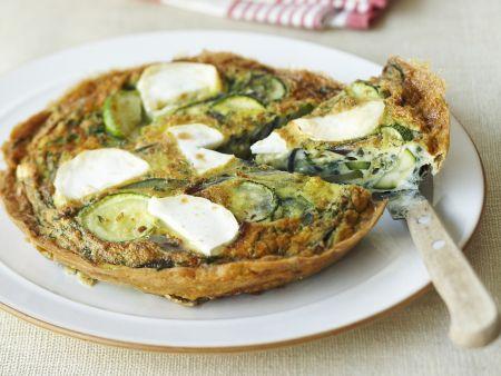 Rezept: Zucchini-Ziegenkäse-Frittata