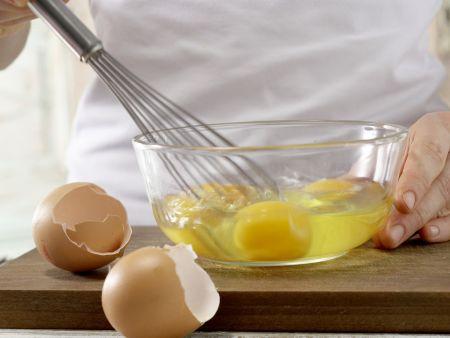 Zwiebel-Omelett: Zubereitungsschritt 3