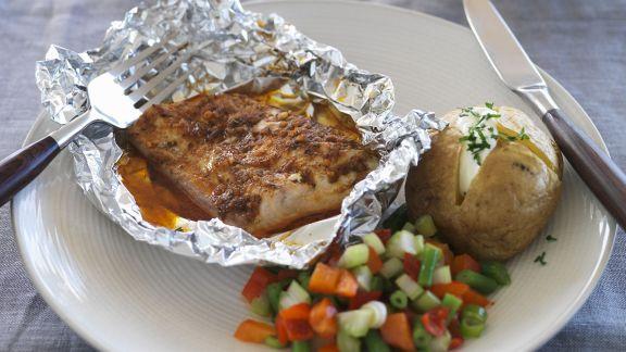 Rezept: Alufolien-Fisch mit Cajun-Gewürz