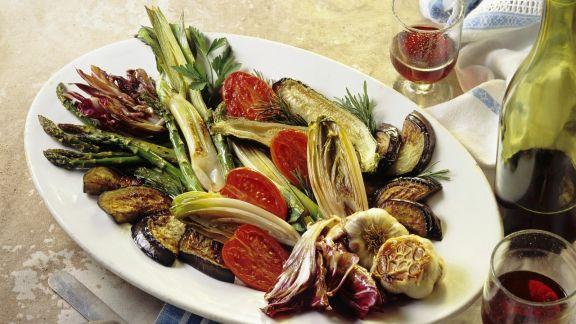 Rezept: Antipasti aus gebratenem Gemüse