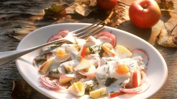 Rezept: Apfel-Heringssalat